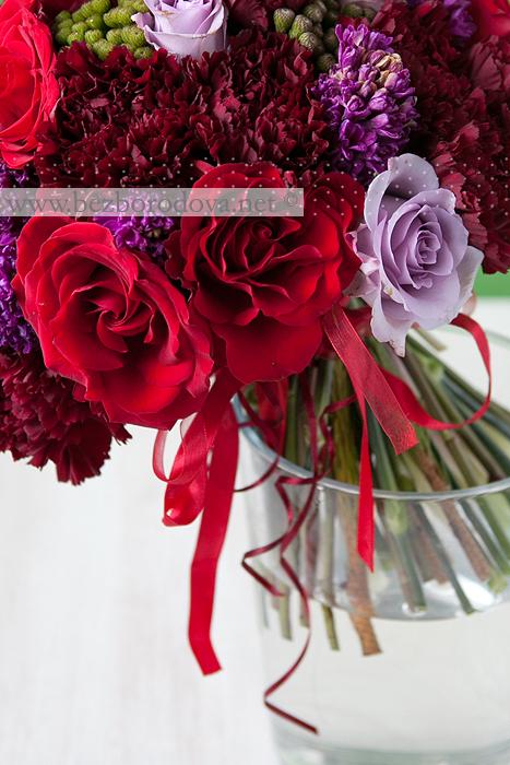 Свадебный букет с гиацинтами