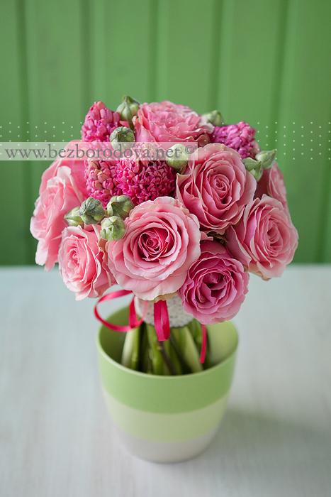 Розовый букет фото