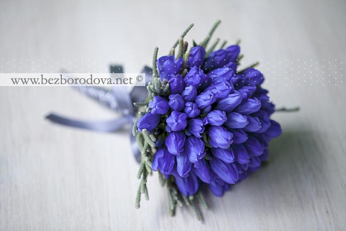 Изобр по > Свадебный Букет из Синих Орхидей