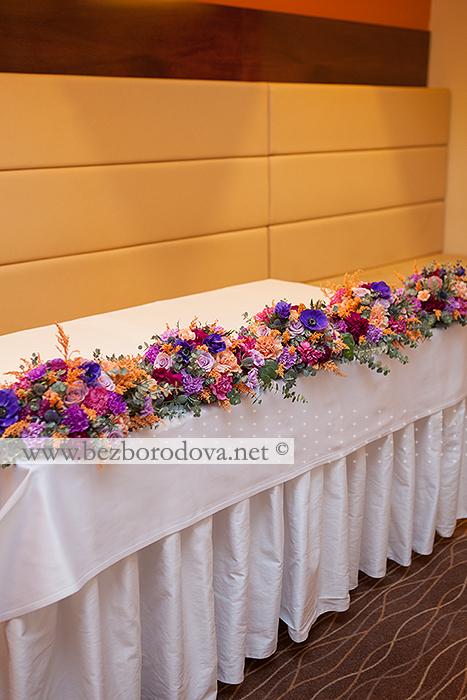 Оформление ресторана Аквамарин в фиолетово-оранжевой гамме